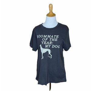 Wildfox Roomate Of The Year: My Dog Grey T Shirt M